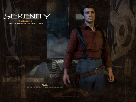 Nathan Fillion as Malcolm Reynolds | Serenity (2005)